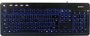 (1006208) Клавиатура A4 KD-126-1 черный USB slim Multimedia LED подсветка клавиш
