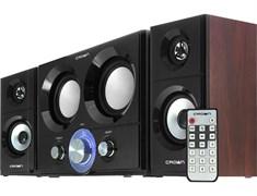 (1010995) Акустическая система 2.1 CROWN CMBS-361 (МДФ, Bluetooth, 16W+10W*2 (RMS)=36W; приёмник FM; картридер; интерфейс USB; IR пульт)