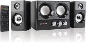 (1011229) Акустическая система 2.1 CROWN CMBS-161 (МДФ, Bluetooth, 8W+4W*2=16W; приёмник FM; картридер; интерфейс USB; IR пульт)
