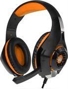 (1011232) Гарнитура игровая CROWN CMGH-102T Black&orange (Подключение USB, встроенная аудио карта, Частотный диапазон: 20Гц-20,000 Гц ,Кабель 2.1м,Размер D 250мм)