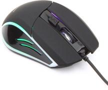 (1011516) Мышь игровая Gembird MG-500, USB, черный 5 кнопок+колесо-кнопка, 1600 DPI, подсветка 3 цвета, кабель 1.45м
