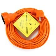 """(1011559) Удлинитель в бухте """"PowerCube"""" 10А/2,2 кВт, 1 розетка, 20м, оранжевый"""