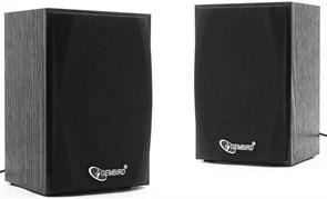 (1011491) Акустич. система 2.0 Gembird SPK-201, МДФ, черный, 5 Вт, регулятор громкости, USB-питание