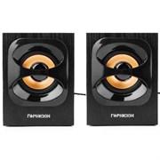 (1011494) Акустическая система 2.0 Гарнизон GSP-300, черный, 6 Вт,  материал- МДФ, USB - питание