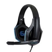 """(1011537) Гарнитура игровая Gembird MHS-G10, код """"Survarium"""", черный/синий, регулировка громкости, кабель 2.5м"""