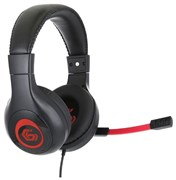 """(1011538) Гарнитура игровая Gembird MHS-G30, код """"Survarium"""", черный/красный, регулировка громкости, отключение микрофона, кабель 2.5м"""