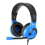 """(1011539) Гарнитура игровая Gembird MHS-G50, код """"Survarium"""", черный/синий, регулировка громкости, отключение микрофона, кабель 2.5м"""