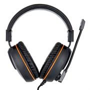 """(1011540) Гарнитура игровая Gembird MHS-G100, код """"Survarium"""", черный/оранжевый, регулировка громкости, отключение микрофона, кабель 2,5м"""