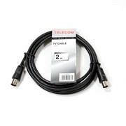 (146482)  Кабель удлинительный антенный,  2.0m, Telecom (TTV9501-2M), коаксиальный штекер (M -> F)