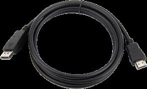 (1011479) Кабель DisplayPort->HDMI Cablexpert CC-DP-HDMI-6, 1,8м, 20M/19M, черный, экран, пакет