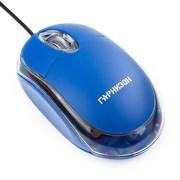 (1011535) Мышь Гарнизон GM-100B, USB, чип- Х, синий, 1000 DPI, 2кн.+колесо-кнопка