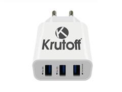 (1011326) СЗУ Krutoff CH-20 3xUSB, 3.1A + кабель USB Type-C