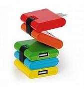 """(1011508) Концентратор USB 2.0 Konoos UK-06 """"Конструктор"""", 4 порта USB, блистер"""