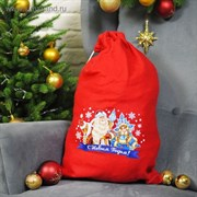 "Мешок Деда Мороза "" С Новым Годом"", Дед Мороз и Снегурочка, 40 х 60 см"
