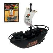 "(1015177) Катер ""Пиратская лодка"", работает от батареек 1623691"