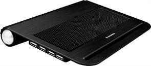 """(1006340) Подставка для ноутбука Xilence V12 (COO-XPLP-V12.B) 12""""/2хUSB/2x60mm Fan/Aluminium/Black"""