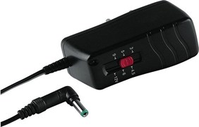 (1007058) Зарядное устройство Hama H-46612 сетевой 2500мА 3/4,5/5/6/6,5/7В (8штеккеров) стабилизированный черн