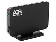 "(1008857) Внешний корпус для HDD AgeStar 3UB3A8-6G (BLACK) USB 3.0 3.5"" SATA алюминий {654464} 13822"