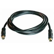 (98955)  Кабель S-Video (M) -> S-Video (M),  1.5m, Vcom (VAV7187-1.5M), позолоченные контакты, черный