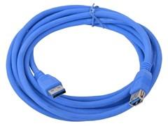 (1011463) Кабель удлинитель USB3.0 Pro Cablexpert CCP-USB3-AMAF-10, AM/AF, 3м, экран, синий, пакет