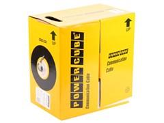 (1011710) Кабель UTP Power Cube PC-UPC-5002E-SO кат.5e МЕДЬ одножильный 2х2х0.51 мм, 305 м pullbox, серый