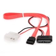 (1012031) Кабель Combo Slim(mini) SATA Cablexpert CC-SATA-C2, molex+SATA/miniSATA, 6pin+7pin, (длина инт - 35см, питание - 30см), пакет