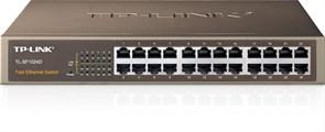 (1012105) Сетевой коммутатор TP-Link TL-SF1024D 24-портовый 10/100 Мбит/с настольный/монтируемый в стойку коммутатор SMB