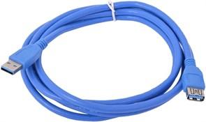 (1012215) Кабель удлинитель USB3.0 Pro Cablexpert CCP-USB3-AMAF-6, AM/AF, 1.8м, экран, синий, пакет