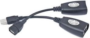 (1012209) Удлинитель USB 2.0 по витой паре Cablexpert UAE-30M USB AM-AF/RJ45Fx2