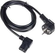 (1012223) Кабель питания Cablexpert PC-186A-VDE, 1.8м, Schuko- C13, VDE, 10А, черный, угловой разъем, с заземлением, пакет