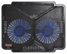 """(1012361) Подставка для ноутбука Buro BU-LCP140-B214 14""""335x265x22мм 1xUSB 2x 140ммFAN 480г металлическая сетк"""