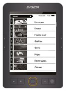 "(1012453) Электронная книга Digma S683G 6"" E-ink HD Carta 1024x758 Touch Screen/4Gb/microSDHC/подсветка дисплея серый"