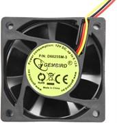 (1012552) Вентилятор Gembird, 60x60x25, втулка, 3 pin, провод 25 см