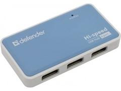 (199125) Концентратор Defender Quadro Power, 4 x USB 2.0, ,блок питания 2А