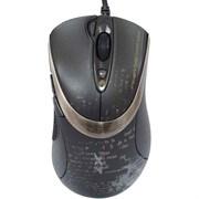 (1012910) Мышь A4 V-Track F4 черный оптическая (3000dpi) USB игровая (6but)
