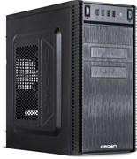 """(1013115) Корпус MiniTower CROWN CMC-403 black mATX w/o ( Office Тип: Mini Tower  Стандарт МП: Micro ATX Стандарт БП: ATX Размер: 370*185*375 мм; 0,4-0,5 мм SGCC ; Отсеки  5,25"""" внешний 2 шт. 5,25"""" внутренний 3 шт. 3,5"""" внешний 2 шт. 3,5"""" внутренний"""