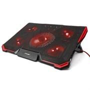 "(1013121) Подставка для ноутбука CROWN CMLS-k330 RED ( до 19"" Размер 410*292*29мм , кулеры: D140mm*1+ D80mm*4,,красная led подсветка, регулятор скорости, 7 уровней наклона)"