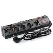 (1013324) Сетевой фильтр CROWN CMPS-10, 3680W, розетки 10 х EURO, порты: RJ-11 х 3, coacial х 2, USB х 2, автомат 16А, защита: от перегрузки, от КЗ, от скачков напряжения, шнур EURO - вилка 1,5 кв. мм, длина 1,8 м, корпус ABS-пластик, цвет - тёмно-се