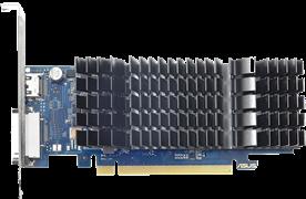 (1025202) Видеокарта Asus PCI-E GT1030-SL-2G-BRK NV GT1030 2048Mb 64 GDDR5 1228/6008 DVIx1/HDMIx1/HDCP Ret low