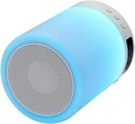 (1013906) Портативная беспроводная колонка Ginzzu  GM-893W, BT-Колонка 5W/LED/RGB/TF/AUX/FM/часы/будильник