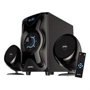 """(1013883) Perfeo колонки 2.1 """"SHUTTLE"""", мощн 16W+6W*2, Bluetooth, AUX, FM, USB/SD, ПДУ, чёрн (PF-3670)"""