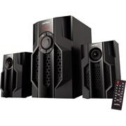 "(1013881) Perfeo колонки 2.1 ""TOTEM"", мощн 15Вт+11,5х2Вт, Bluetooth, AUX, FM, USB/SD, ПДУ, чёрн (PF-105C-BL)"