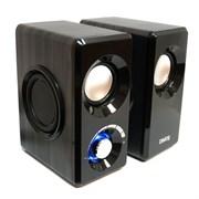 (1013855) Акустическая система 2.0  Dialog AST-25UP Black (6 Вт., AUX, регулятор громкости, питание USB, деревянный корпус)