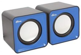 (1013838) Акустическая система 2.0 RITMIX SP-2020 Black+Blue (5 Вт., AUX, регулятор громкости, питание USB)