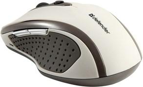 (115578) Беспроводная оптическая мышь Defender Safari MM-675 бежевый,6кнопок,800-1600dpi