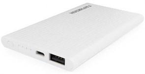 (1013998) Портативный аккумулятор Гарнизон GPB-105W, 5000 мА/ч, 1 USB, 1A, белый