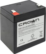 (1014020) Аккумулятор CROWN CBT-12-4.5 (Cвинцово-кислотный, напряжение 12В, ёмкость  4.5 А\Ч, размеры (мм)  90х70х101, вес 1,48 кг, материал корпуса - ABS-пластик, тип клеммы - F2 (Т2), срок службы 6 лет)