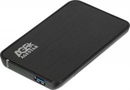 "(1014101) Внешний корпус для HDD/SSD AgeStar 3UB2A8-6G SATA III пластик/алюминий черный 2.5"""