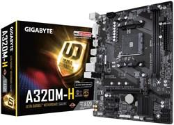 (1014203) Материнская плата Gigabyte GA-A320M-H Soc-AM4 AMD A320 2xDDR4 mATX AC`97 8ch(7.1) GbLAN RAID+DVI+HDMI