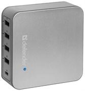 (220403)  Универсальное сетевое зарядное устройство Defender UPA-50  4*USB + USB-C 8A (83538)